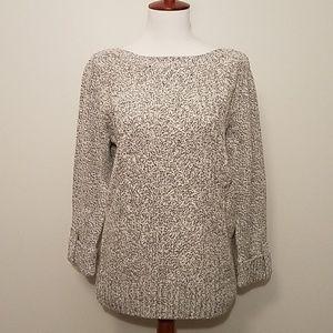 NWT Rebecca Malone gray cable sweater